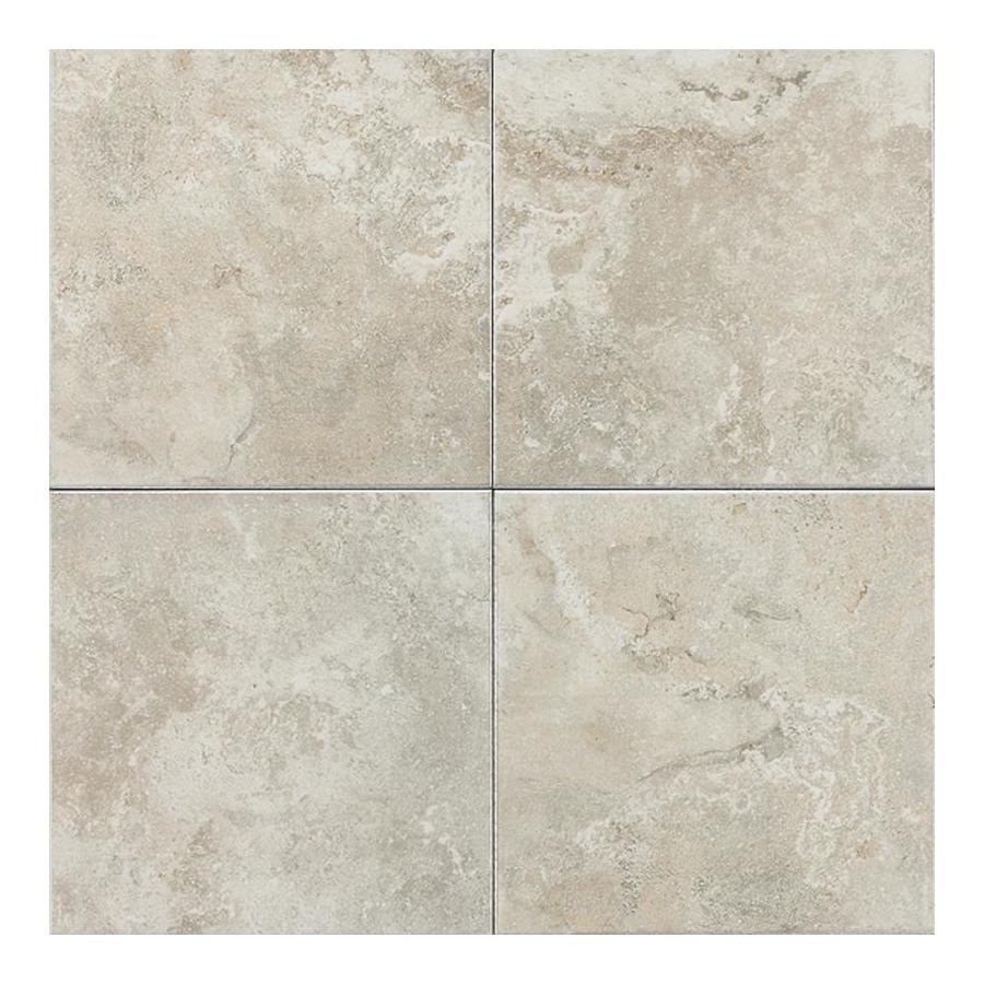 American Olean Pozzalo 8-Pack Sail White Ceramic Floor and Wall Tile (Common: 18-in x 18-in; Actual: 17.75-in x 17.75-in)