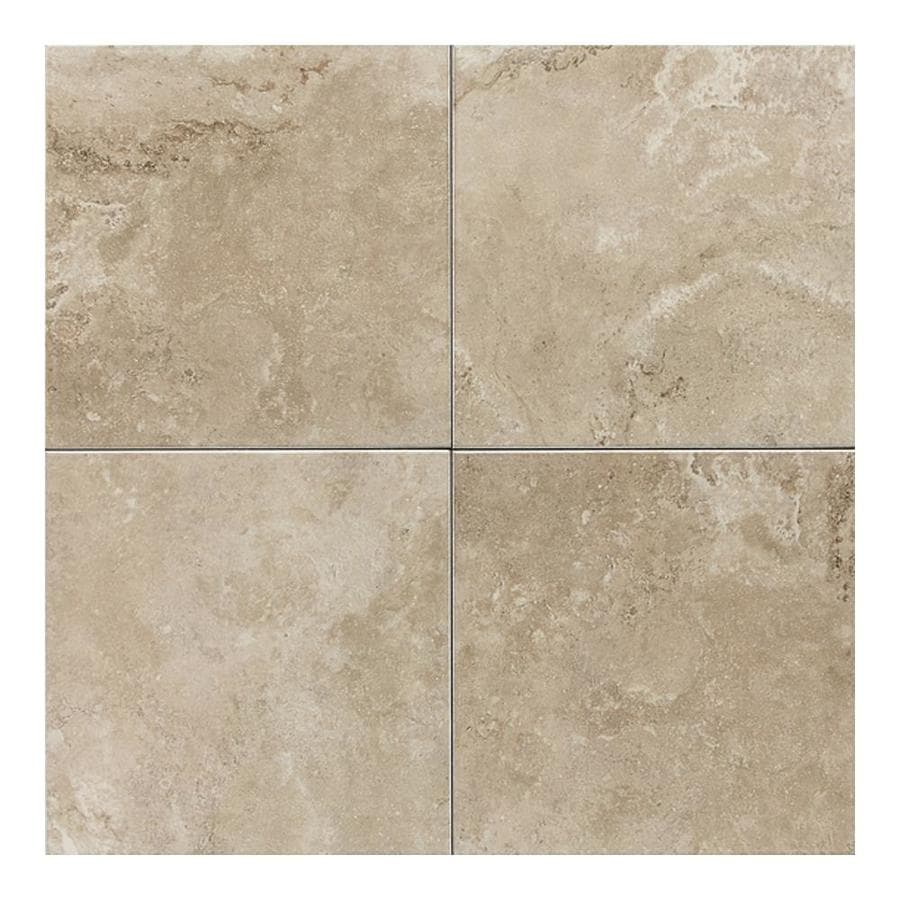 American Olean Pozzalo 8-Pack Coastal Beige Ceramic Floor and Wall Tile (Common: 18-in x 18-in; Actual: 17.75-in x 17.75-in)