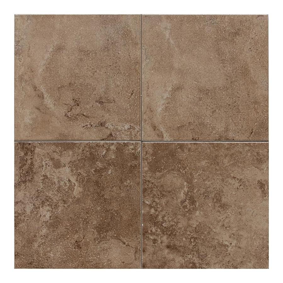 American Olean Pozzalo 8-Pack Weathered Noce Ceramic Floor and Wall Tile (Common: 18-in x 18-in; Actual: 17.75-in x 17.75-in)