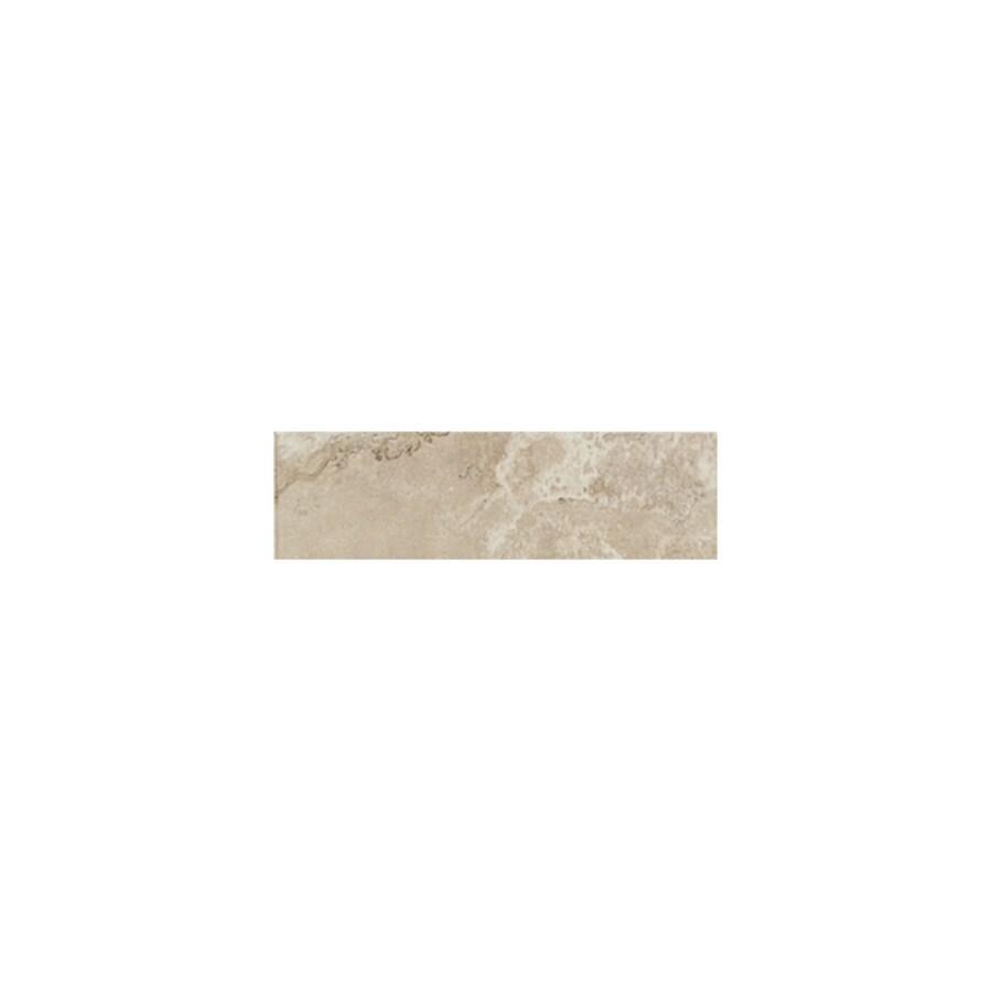 American Olean Pozzalo Coastal Beige Ceramic Bullnose Tile (Common: 3-in x 9-in; Actual: 3-in x 9-in)