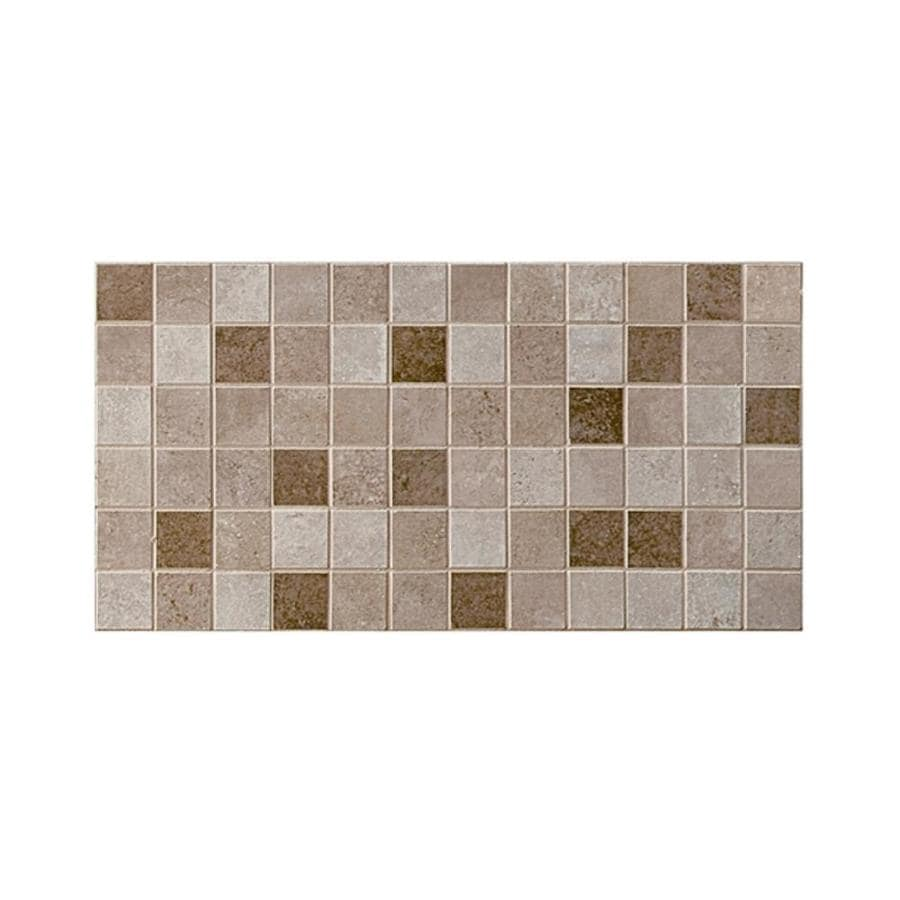 American Olean Pozzalo 12-Pack Universal Uniform Squares Mosaic Ceramic Floor and Wall Tile (Common: 12-in x 24-in; Actual: 12-in x 24-in)