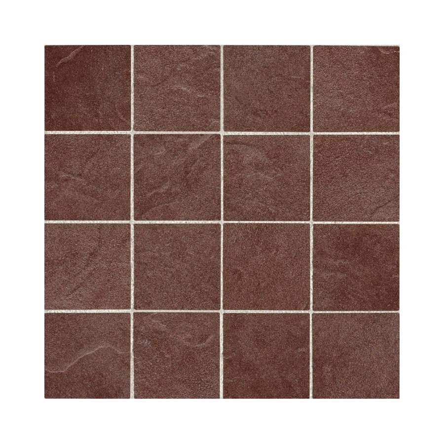 American Olean 24-Pack Shadow Bay Sunset Cove Thru Body Porcelain Mosaic Square Floor Tile (Common: 12-in x 12-in; Actual: 11.81-in x 23.93-in)