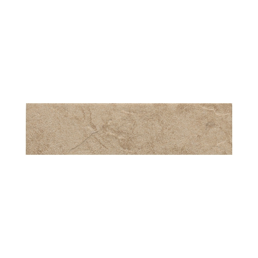 American Olean Shadow Bay Beach Sand Thru Body Porcelain Bullnose Tile (Common: 3-in x 12-in; Actual: 2.87-in x 11.81-in)