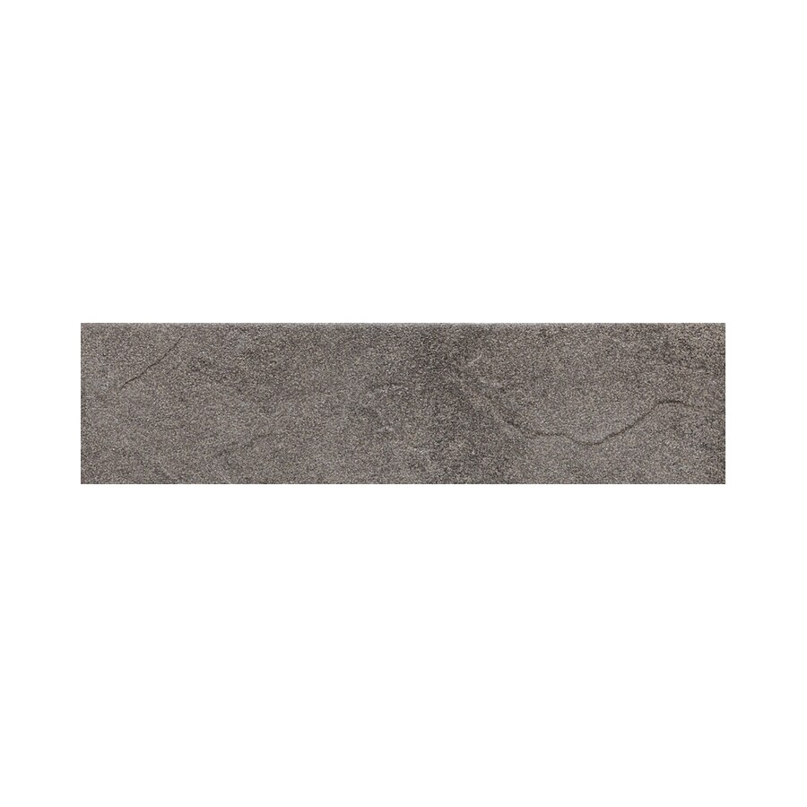 American Olean Shadow Bay Rocky Shore Thru Body Porcelain Bullnose Tile (Common: 3-in x 12-in; Actual: 2.87-in x 11.81-in)