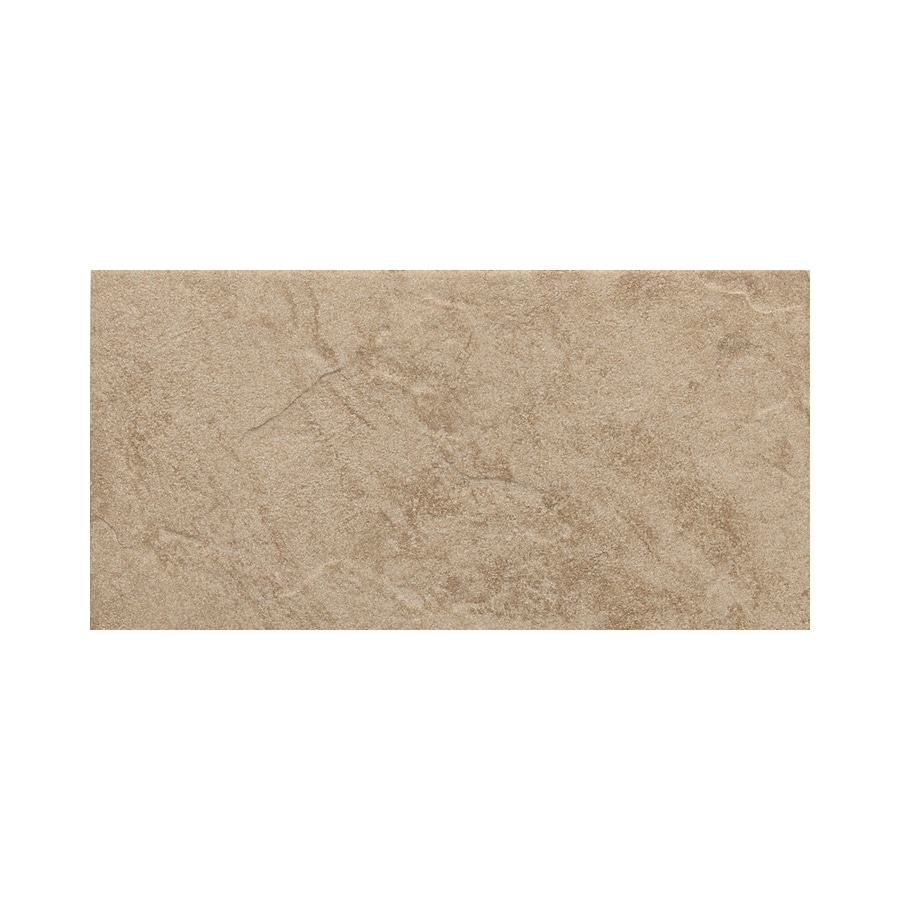 American Olean Shadow Bay Beach Sand Thru Body Porcelain Bullnose Tile (Common: 8-in x 10-in; Actual: 6-in x 12-in)