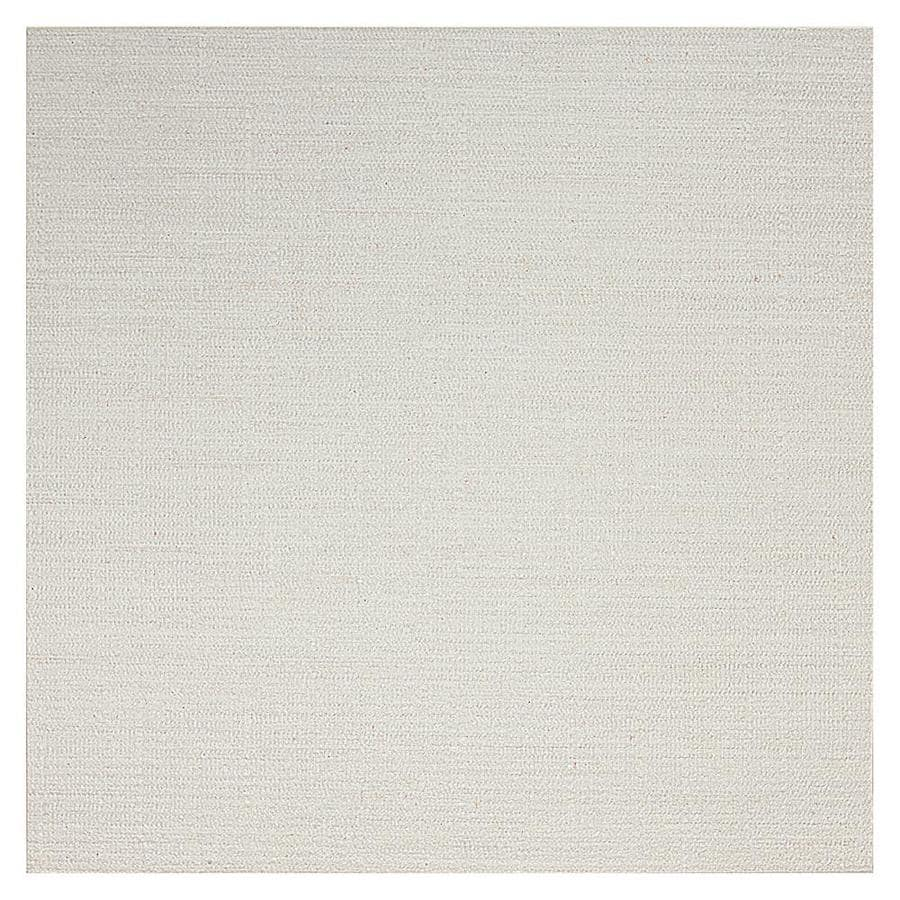 American Olean Infusion 4-Pack White Fabric Thru Body Porcelain Floor and Wall Tile (Common: 24-in x 24-in; Actual: 23.5-in x 23.5-in)