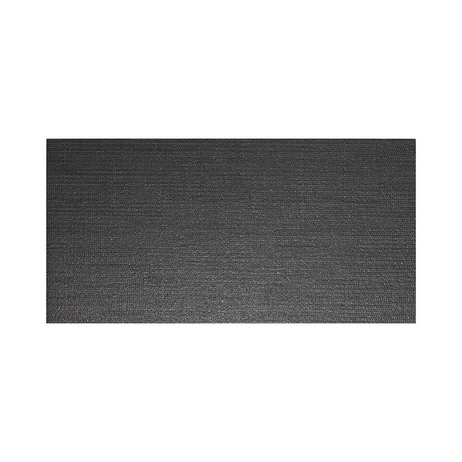 American Olean Infusion 6-Pack Black Fabric Thru Body Porcelain Floor and Wall Tile (Common: 12-in x 24-in; Actual: 11.75-in x 23.5-in)