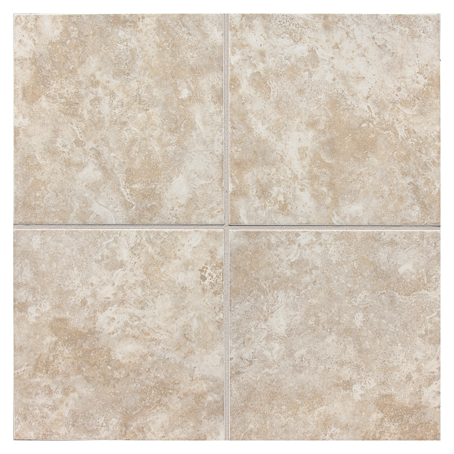 American Olean Belmar 8-Pack Pearl Ceramic Floor and Wall Tile (Common: 18-in x 18-in; Actual: 17.75-in x 17.75-in)