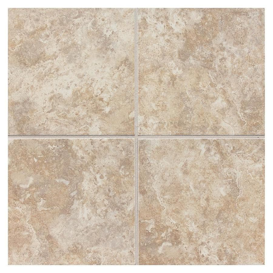 American Olean Belmar 8-Pack Cashmere Ceramic Floor and Wall Tile (Common: 18-in x 18-in; Actual: 17.75-in x 17.75-in)