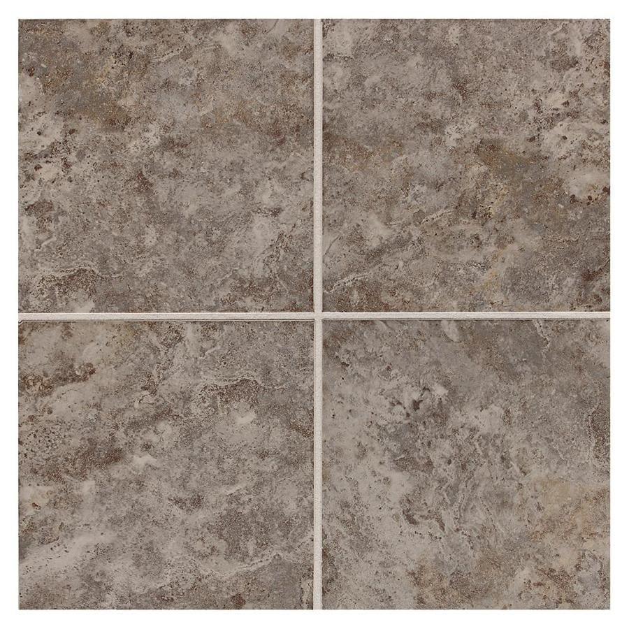 American Olean Belmar 8-Pack Pewter Ceramic Floor and Wall Tile (Common: 18-in x 18-in; Actual: 17.75-in x 17.75-in)