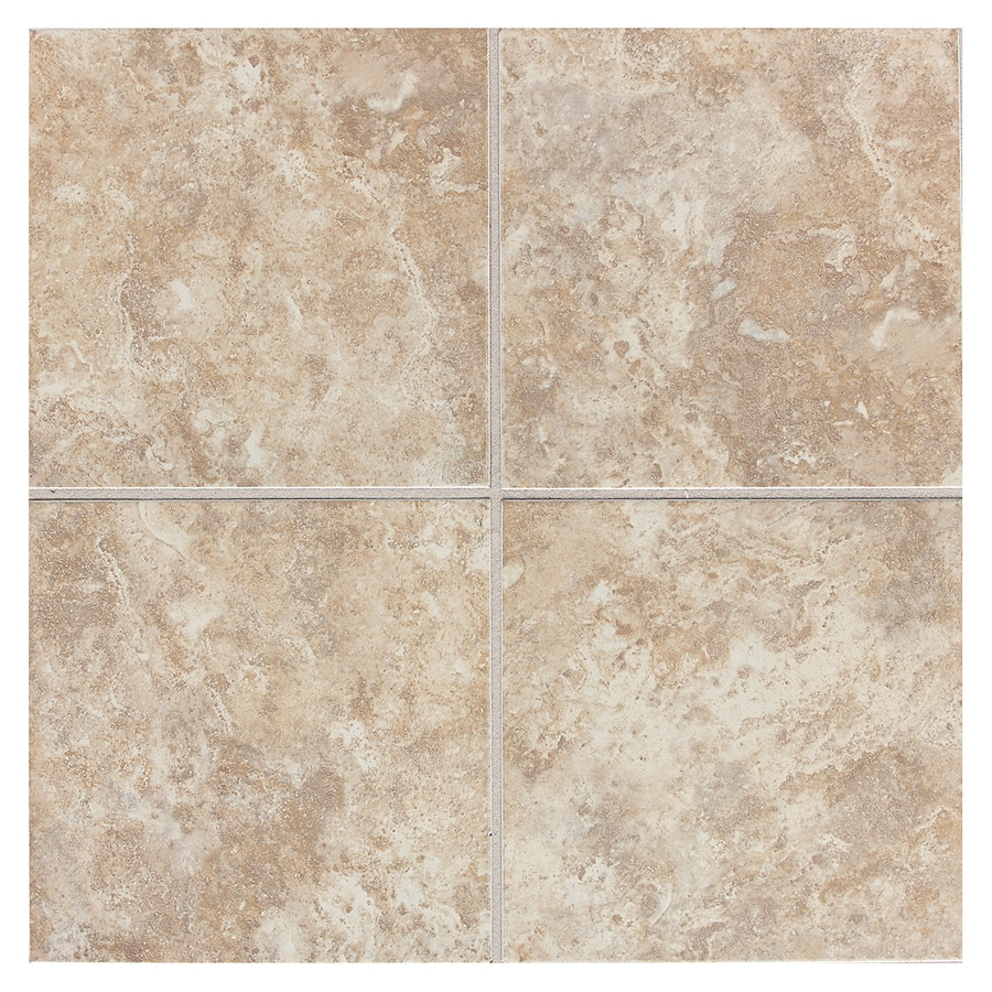 American Olean Belmar 11-Pack Cashmere Ceramic Floor and Wall Tile (Common: 12-in x 12-in; Actual: 11.81-in x 11.81-in)
