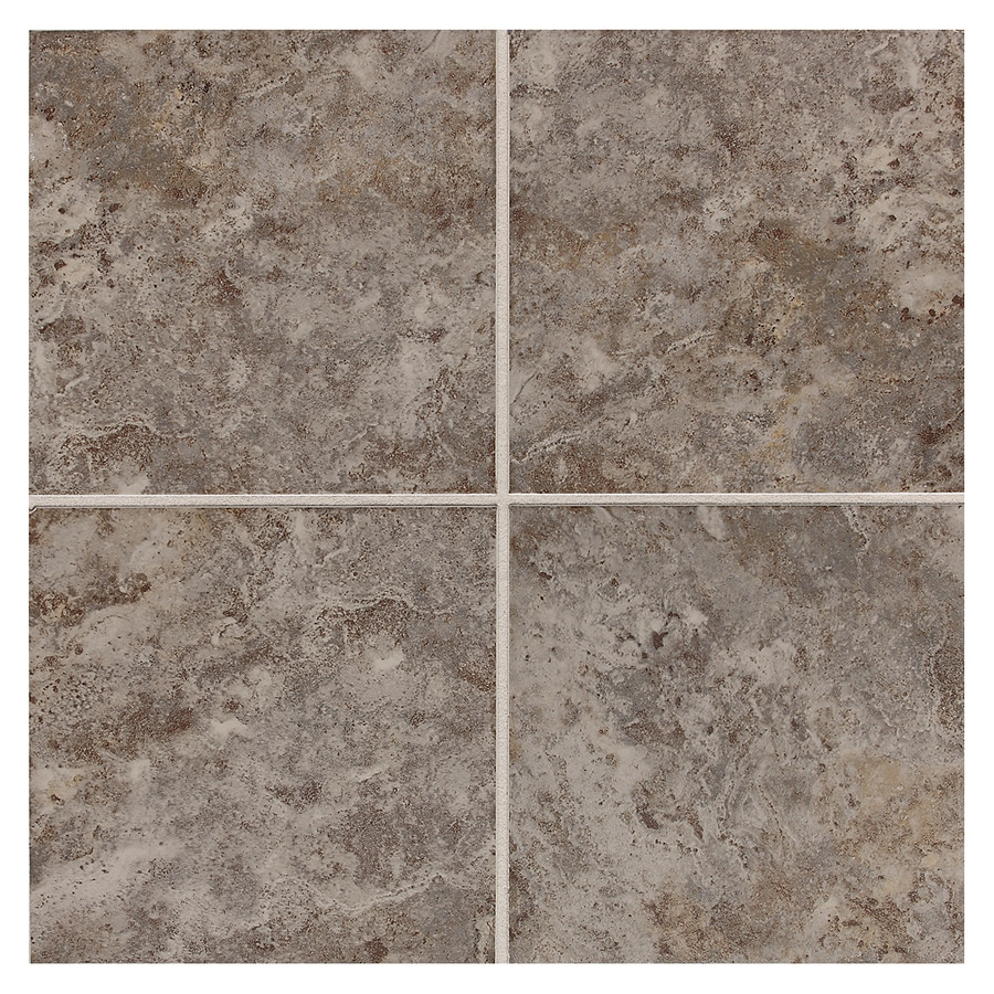 American Olean 11-Pack Belmar Pewter Ceramic Floor Tile (Common: 12-in x 12-in; Actual: 11.81-in x 11.81-in)