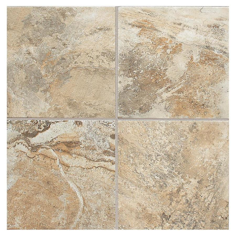 American Olean Kendal Slate 8-Pack Ambleside Beige Porcelain Floor and Wall Tile (Common: 18-in x 18-in; Actual: 17.75-in x 17.75-in)