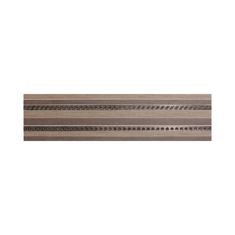 American Olean Infusion Taupe/Brown Fabric Thru Body Porcelain Listello Tile (Common: 6-in x 24-in; Actual: 6-in x 24-in)