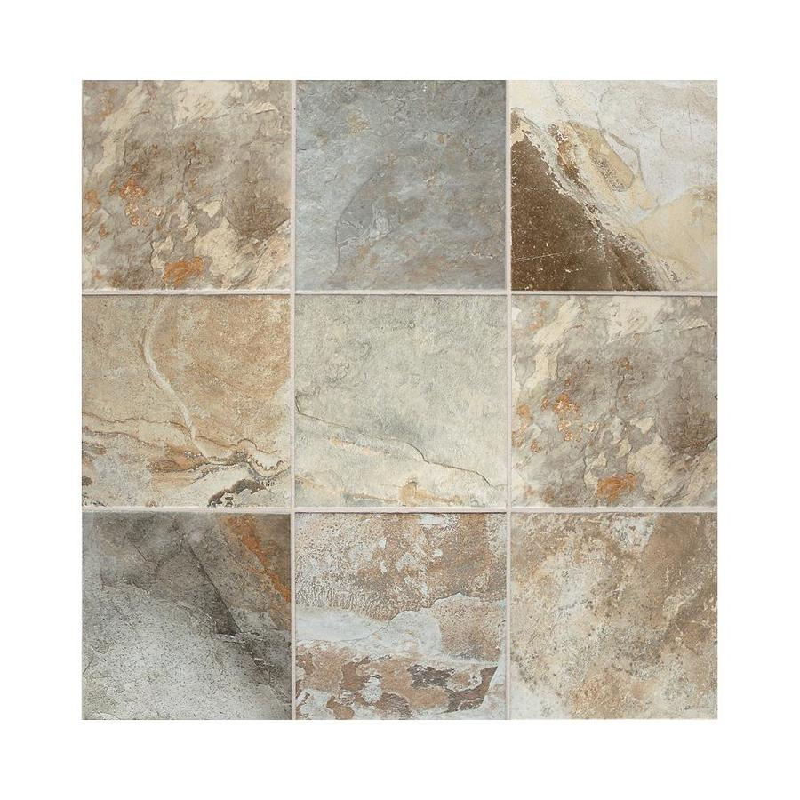 American Olean 44-Pack Kendal Slate Easdale Neutral Glazed Porcelain Floor Tile (Common: 6-in x 6-in; Actual: 5.81-in x 5.81-in)