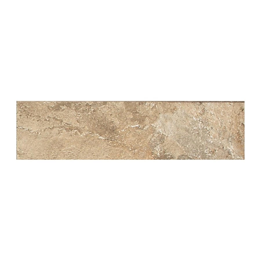 American Olean Kendal Slate Ambleside Beige Porcelain Bullnose Tile (Common: 3-in x 12-in; Actual: 3-in x 12-in)