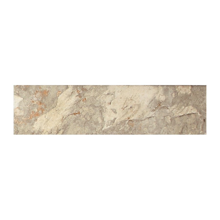 American Olean Kendal Slate Easdale Neutral Porcelain Bullnose Tile (Common: 3-in x 12-in; Actual: 3-in x 12-in)