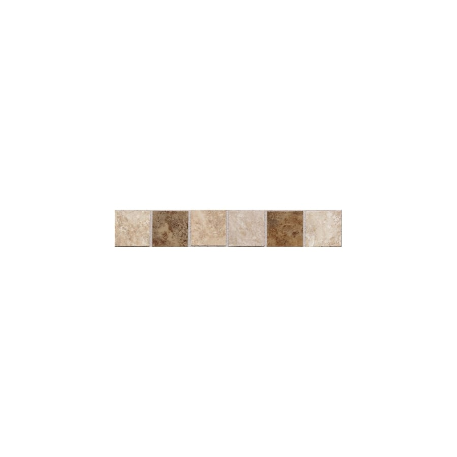 American Olean Belmar Cream Blend Ceramic Bullnose Tile (Common: 2-in x 12-in; Actual: 2-in x 12-in)