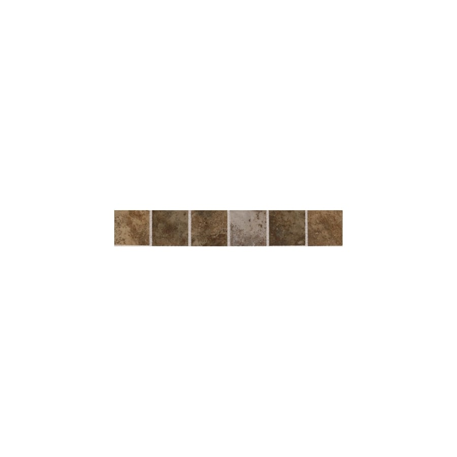 American Olean Belmar Earth Blend Ceramic Bullnose Tile (Common: 2-in x 12-in; Actual: 2-in x 12-in)