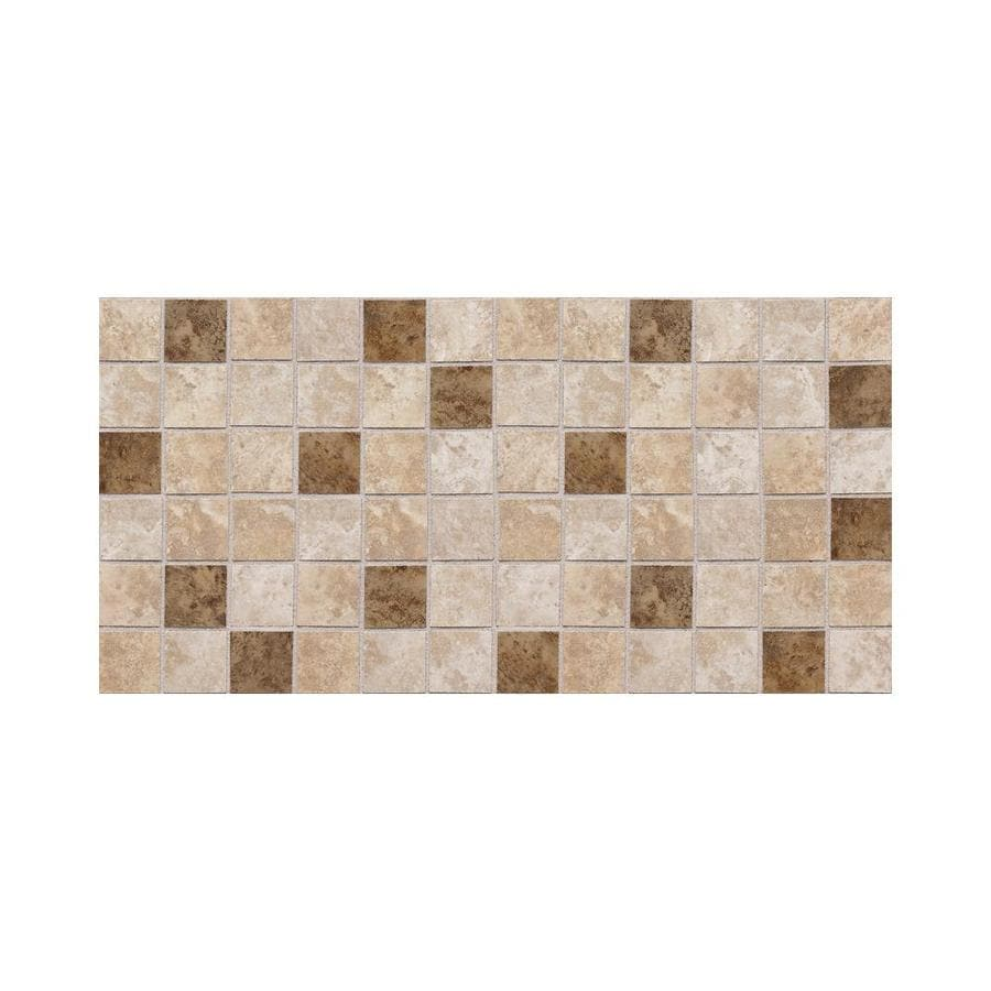 American Olean Belmar 12-Pack Cream Blend Uniform Squares Mosaic Ceramic Floor and Wall Tile (Common: 12-in x 24-in; Actual: 11.93-in x 23.93-in)