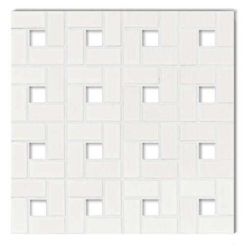 American Olean Chloe 10 Pack White W Blank Dot Pinwheel