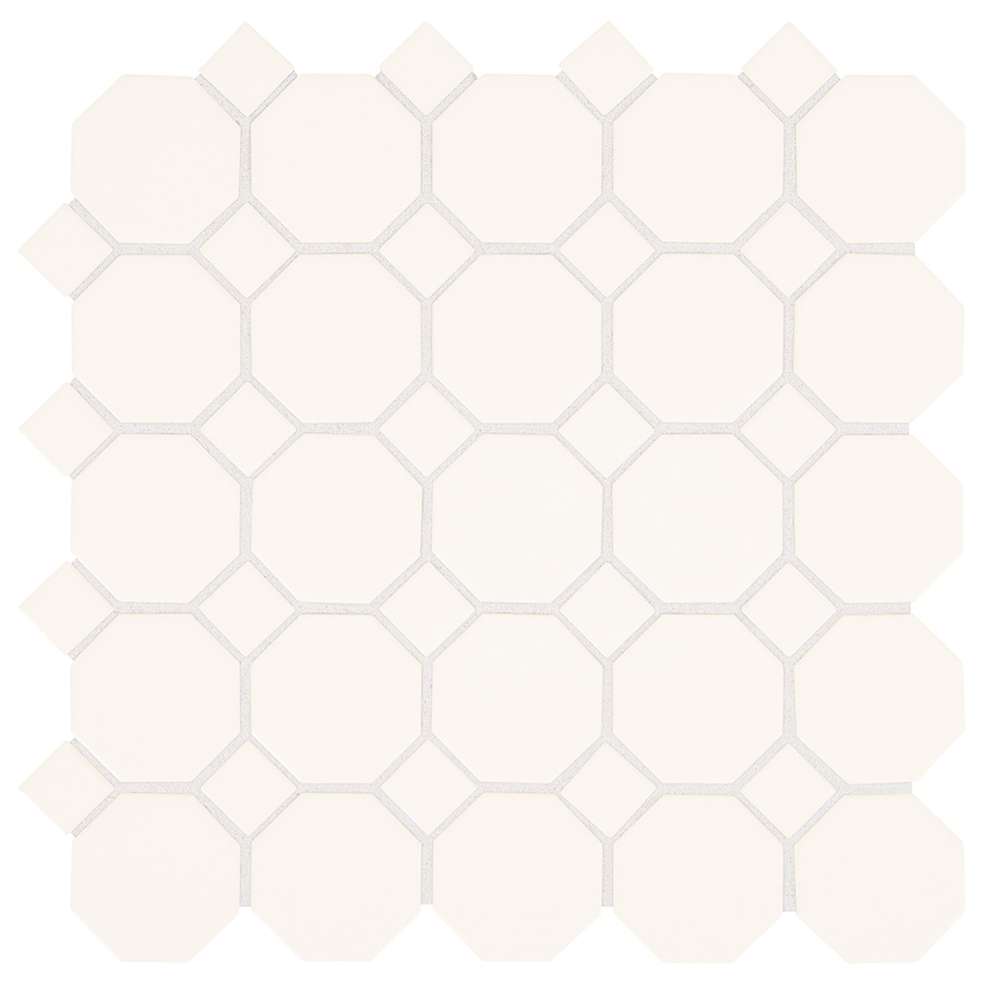 Shop american olean sausalito white white honeycomb mosaic ceramic american olean sausalito white white honeycomb mosaic ceramic floor and wall tile common 12 dailygadgetfo Gallery