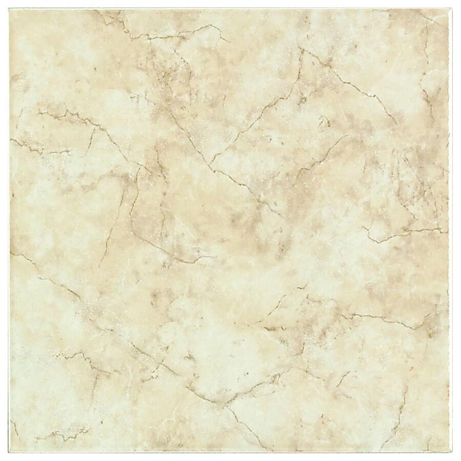 American Olean 18-in x 18-in Lantana Beige Ceramic Floor Tile