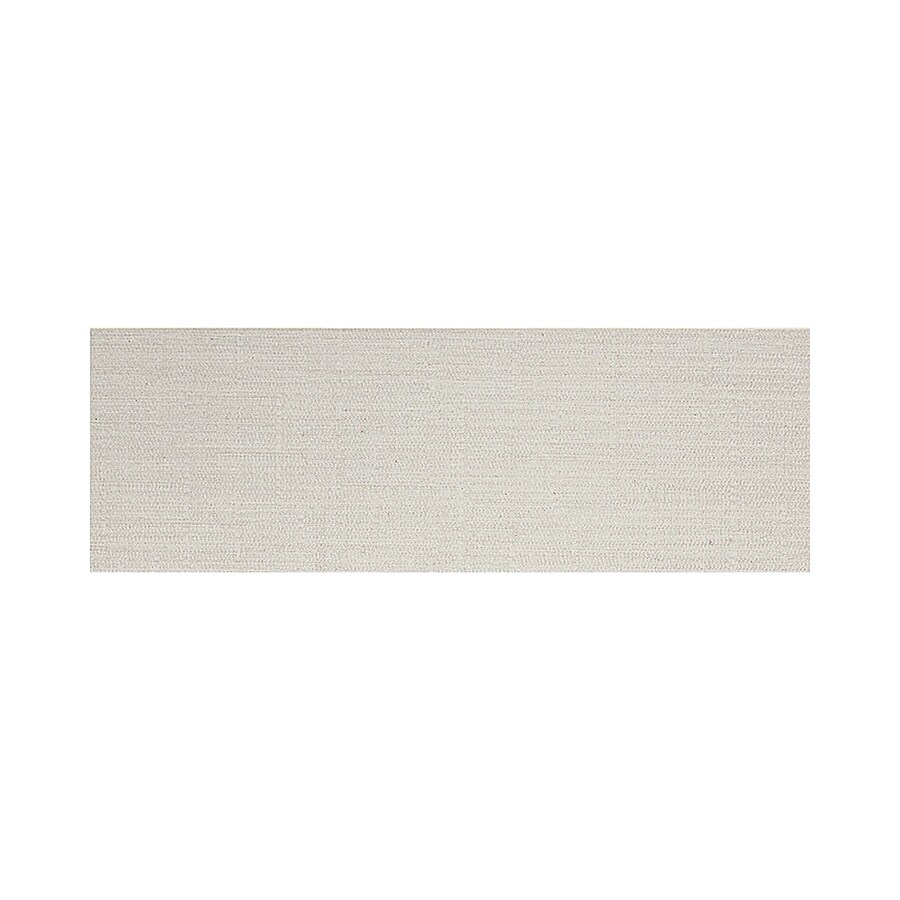 American Olean Infusion White Fabric Thru Body Porcelain Bullnose Tile (Common: 4-in x 12-in; Actual: 3.95-in x 11.75-in)