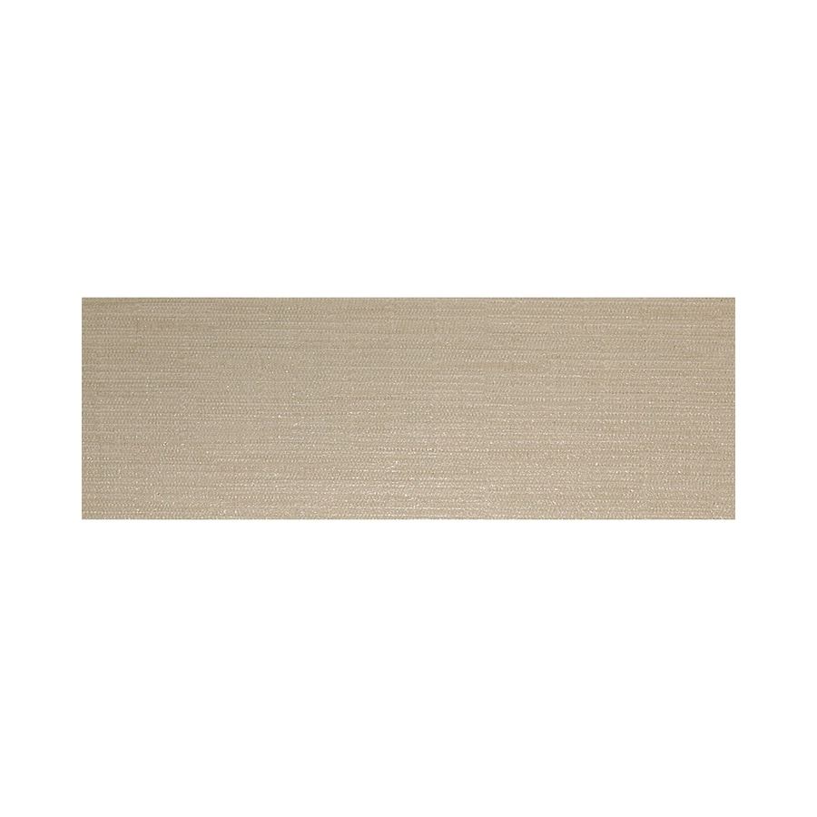 American Olean Infusion Beige Fabric Thru Body Porcelain Bullnose Tile (Common: 4-in x 12-in; Actual: 3.95-in x 11.75-in)
