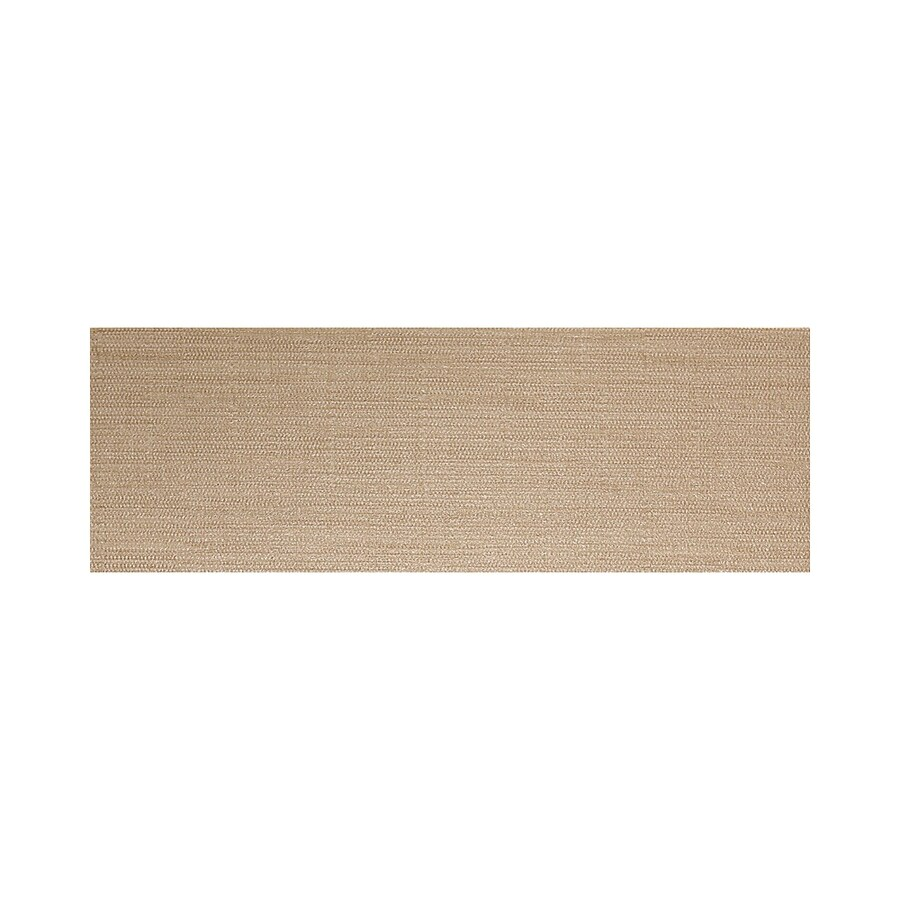 American Olean Infusion Gold Fabric Thru Body Porcelain Bullnose Tile (Common: 4-in x 12-in; Actual: 3.95-in x 11.75-in)