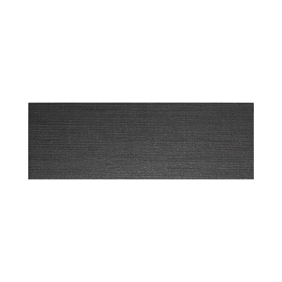 American Olean Infusion Black Fabric Thru Body Porcelain Bullnose Tile (Common: 4-in x 12-in; Actual: 3.95-in x 11.75-in)
