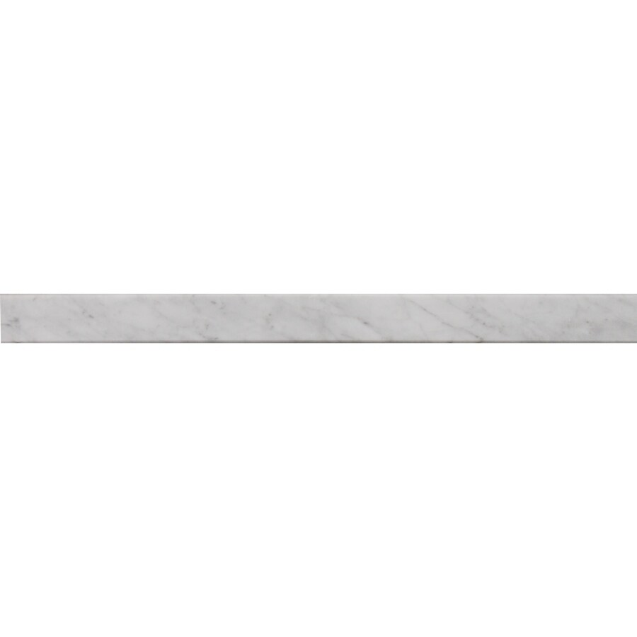 American Olean 36-in x 2-in Carrera White Natural Marble Threshold Tile