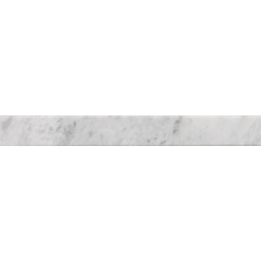 American Olean 4-in x 36-in Carrera White Natural Marble Threshold Tile