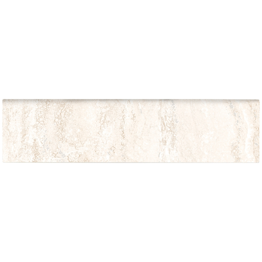 American Olean Salcedo Durango Cream Ceramic Bullnose Tile (Common: 3-in x 12-in; Actual: 3-in x 12-in)