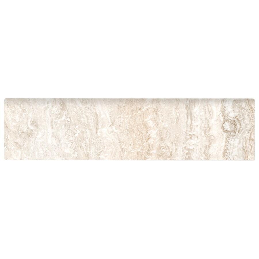 American Olean Salcedo Cortez Beige Ceramic Bullnose Tile (Common: 3-in x 12-in; Actual: 3-in x 12-in)