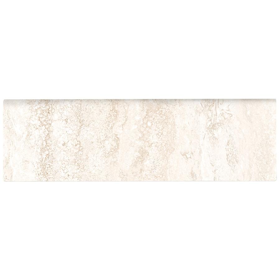 American Olean Salcedo Durango Cream Ceramic Bullnose Tile (Common: 3-in x 10-in; Actual: 3-in x 10-in)