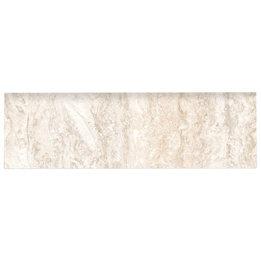 Shop american olean salcedo cortez beige ceramic bullnose for 10 x 10 ceramic floor tile