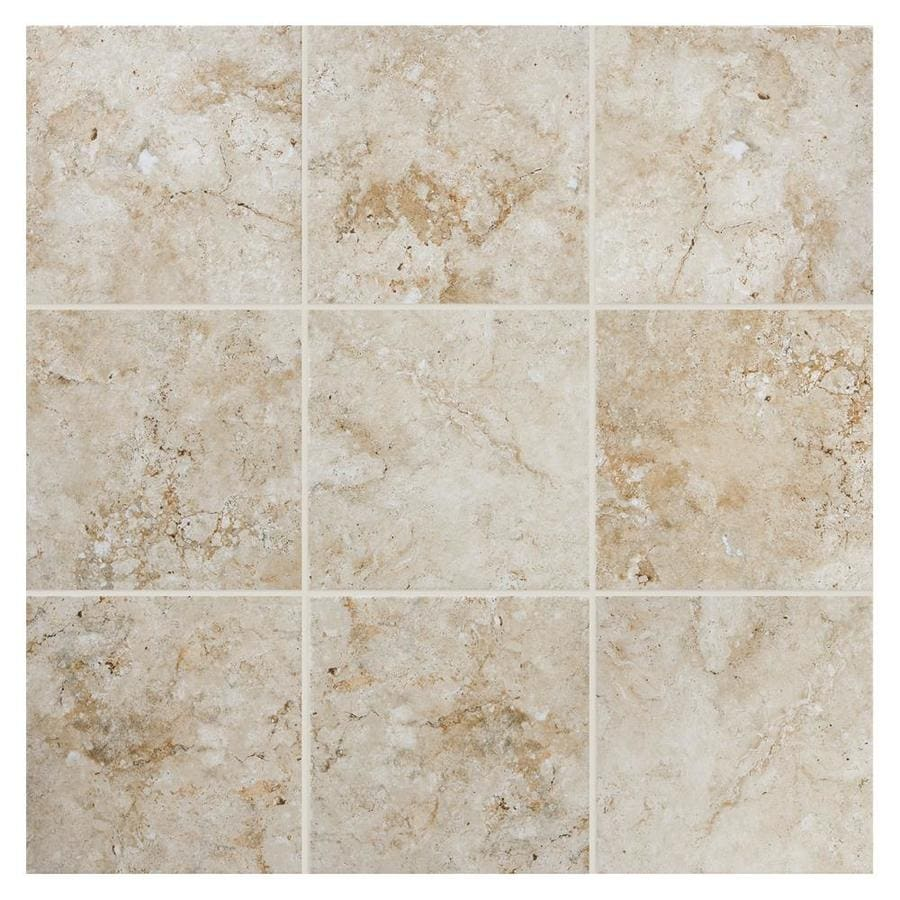 American Olean Bordeaux 6 Pack Creme Porcelain Floor And Wall Tile Common 20