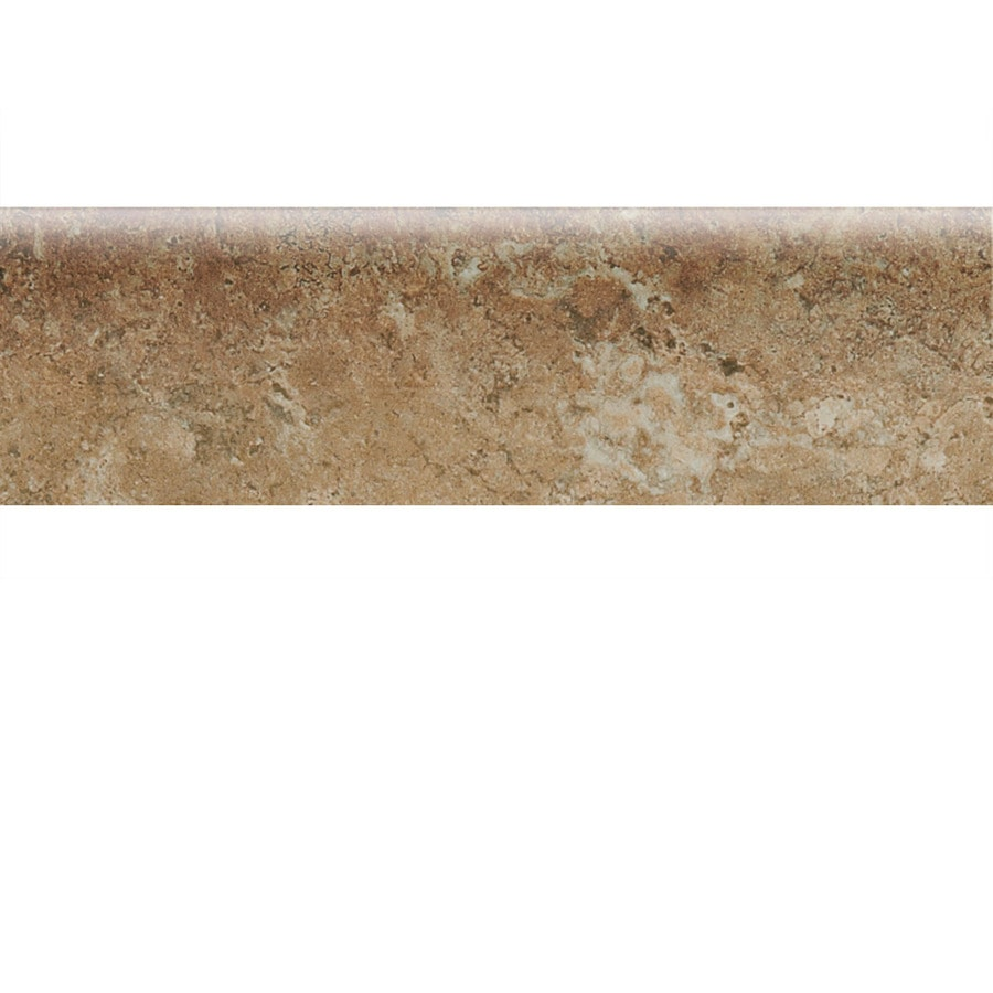 American Olean Bordeaux Marron Ceramic Bullnose Tile (Common: 3-in x 10-in; Actual: 3-in x 10-in)
