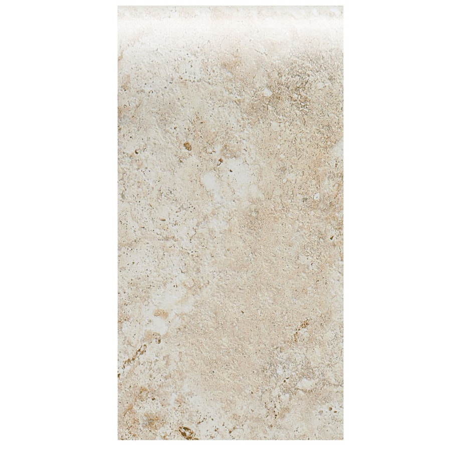 American Olean Bordeaux Creme Ceramic Bullnose Tile (Common: 4-in x 8-1/2-in; Actual: 4.25-in x 8.5-in)
