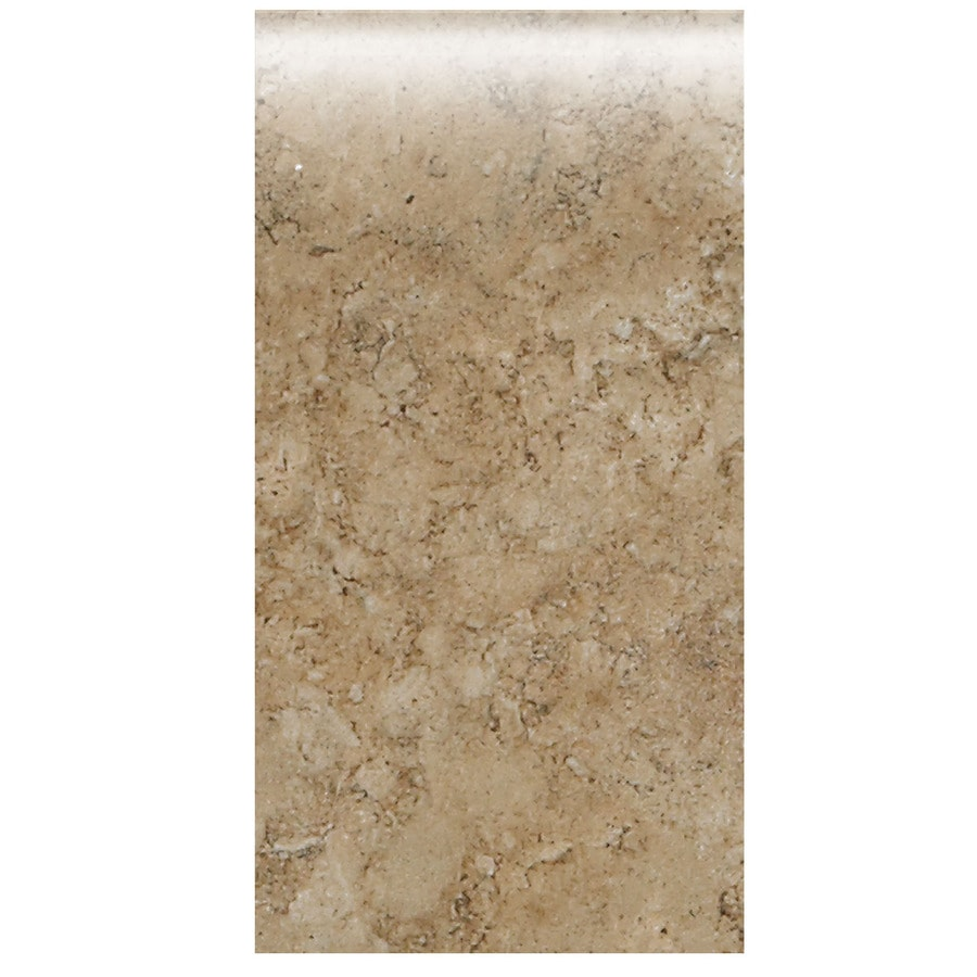 American Olean Bordeaux Marron Ceramic Bullnose Tile (Common: 4-in x 8-1/2-in; Actual: 4.25-in x 8.5-in)