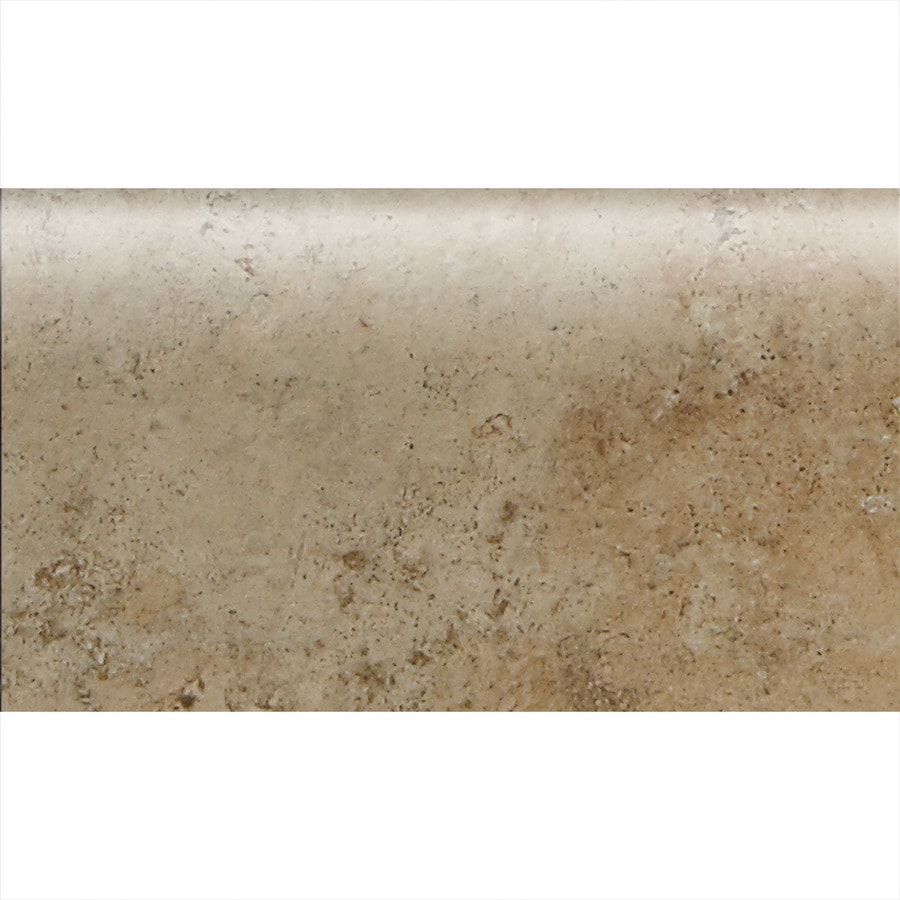 American Olean Bordeaux Marron Ceramic Bullnose Tile (Common: 4-in x 8-1/2-in; Actual: 4.25-in x 8.5-in)