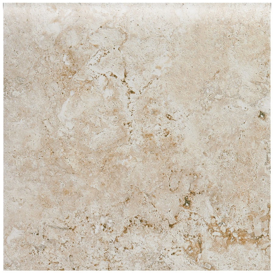 American Olean Bordeaux Creme Porcelain Bullnose Tile (Common: 3-in x 12-in; Actual: 3-in x 3-in)