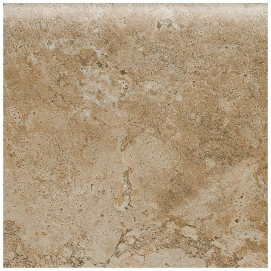 American Olean Bordeaux Marron Porcelain Bullnose Tile (Common: 3-in x 12-in; Actual: 3-in x 3-in)