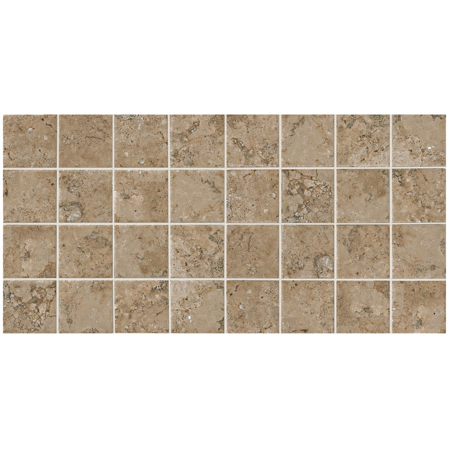 American Olean Bordeaux 12-Pack Marron Uniform Squares Mosaic Porcelain Floor and Wall Tile (Common: 12-in x 24-in; Actual: 11.93-in x 23.93-in)