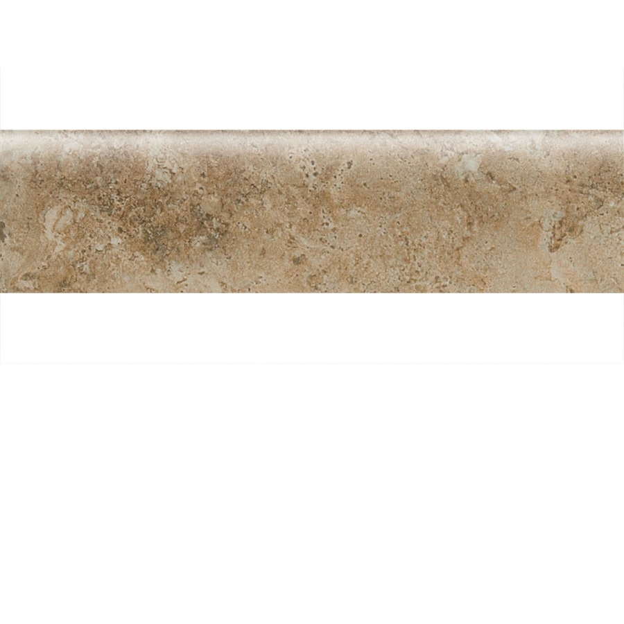 American Olean Bordeaux Marron Porcelain Bullnose Tile (Common: 3-in x 13-in; Actual: 3-in x 13.12-in)