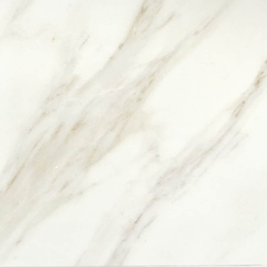 American Olean Mirasol 11-Pack Bianco Carrara Porcelain Floor and Wall Tile (Common: 12-in x 12-in; Actual: 11.5-in x 11.5-in)
