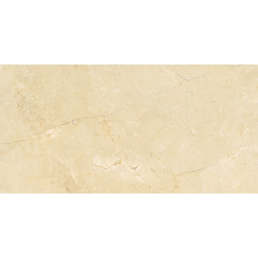 American Olean Mirasol 8-Pack Crema Laila Porcelain Floor and Wall Tile (Common: 12-in x 24-in; Actual: 11.62-in x 23.43-in)