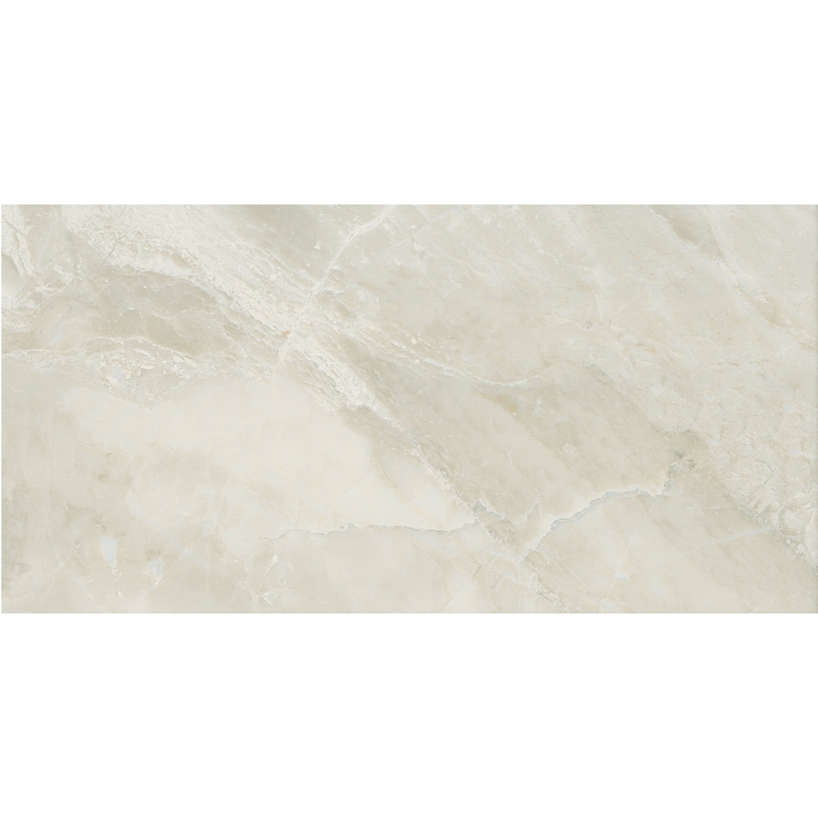 American Olean Mirasol 8-Pack Silver Marble Porcelain Floor and Wall Tile (Common: 12-in x 24-in; Actual: 11.62-in x 23.43-in)