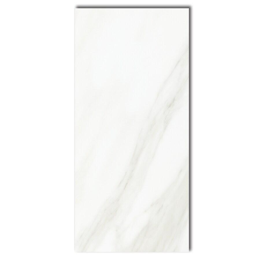 Shop american olean mirasol 10 pack bianco carrrara for 10 x 10 ceramic floor tile